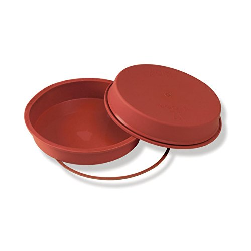 TableTop King Flexible Silicone Bakeware Round Pan 47 Oz, 8.66'' Dia x 1.65'' High