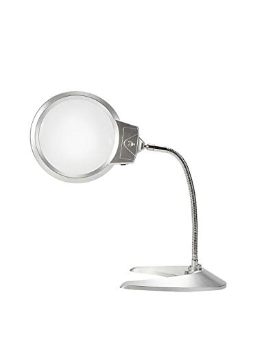 Reading magnifier Hands-free Magnifying Glass With 1 LED Light, 5X 10X Large Portable Folding Magnifying Glass For Viewing Books, Newspapers, Inspection Clocks, Mobile Phone Repairs Ornamental inspect