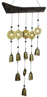 "Best Simple Housewarming Birthday Gift Ideas 2009 - 22"" Tibetan 9 Bell Oriental Wind Chimes"