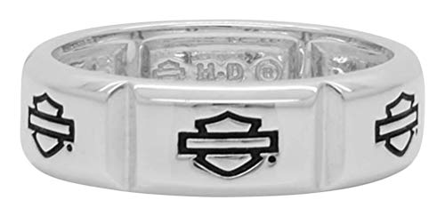 Harley-Davidson Men's Classic Multiple B&S Ring, Sterling Silver HDR0438 (10)
