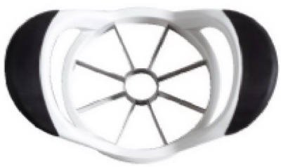 OXO International 32681 Good Grips Apple Corer/Slicer, Stainless Steel/Black - Quantity 6