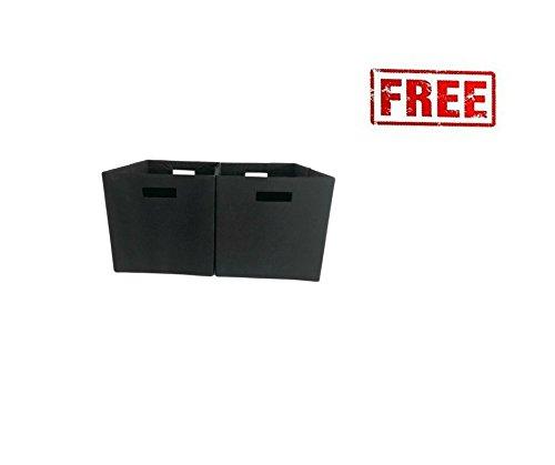 Better Homes and Gardens 5-Cube Organizer Weathered Storage Bookcase Bookshelf with Storage Bins Cream