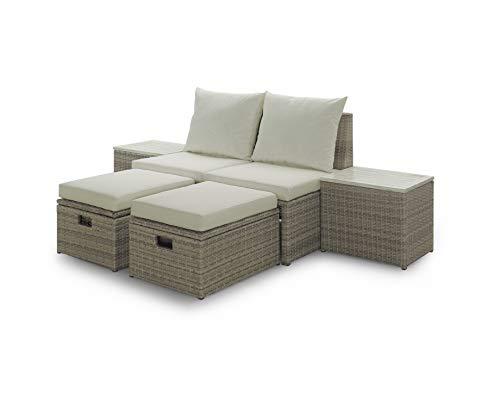 Sunset Garden SG25 Vista Outdoor Furniture Set, Cream (Furniture Cream Sets Garden)