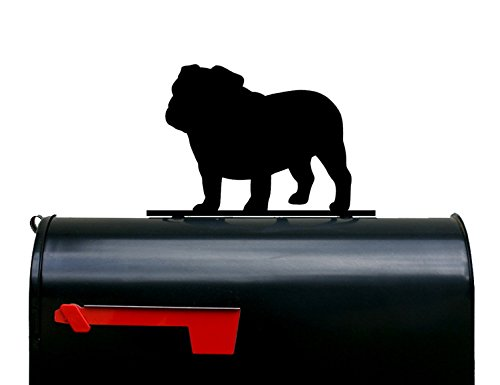 Bulldog Dog Silhouette Mailbox Topper/Sign by NewnanMetalWorks