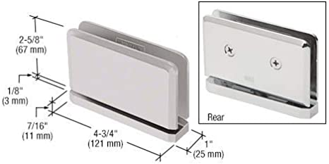 C.R LAURENCE SRPPH01BN CRL Brushed Nickel Senior Prima 01 Series Top or Bottom Mount Hinge
