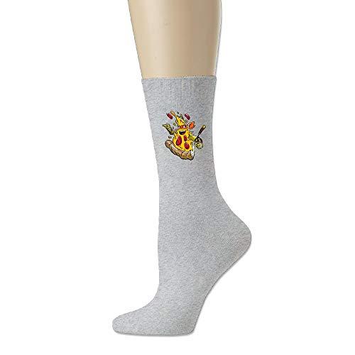 FOOOKLPizza Ninja Comfort Walking Crew Socks