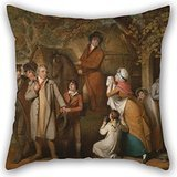 Alphadecor Pillowcase 18 X 18 Inches / 45 By 45 Cm(2 Sides) Nice Choice For Dining Room,couch,teens Girls,bf,shop,birthday Oil Painting William Redmore Bigg - The Severe Steward, Or Unfortunate - Goggles Ray Ben