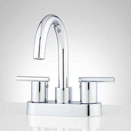 Signature Hardware 418157 Lindo 1.2 GPM Centerset Bathroom Faucet with Pop-Up Drain Assembly