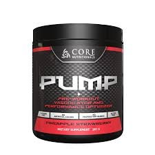 Core Nutritionals Pump Pre-Workout Vasodilator Powder - Pineapple Strawberry 282g