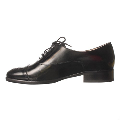 Lk Bennett Mens Piper Leer Veter Jurk Oxfords Zwart