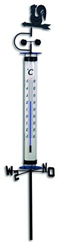 TFA Dostmann Gartenthermometer mit Windfahne 12.2035, 140 cm
