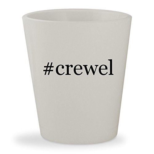 Crewel Embroidery Christmas Stockings - #crewel - White Hashtag Ceramic 1.5oz Shot Glass