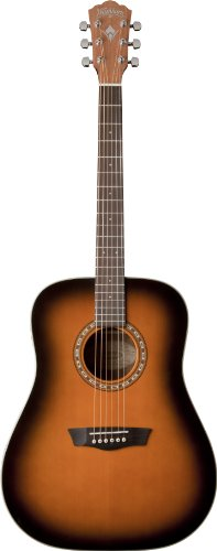 Washburn 6 String Acoustic Guitar Tobacco Burst WD7SATB-O
