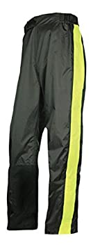 Olympia Moto Sports MP215 Horizon Rain Pant (Black/Neon Yellow, Medium/Large) 243-215023