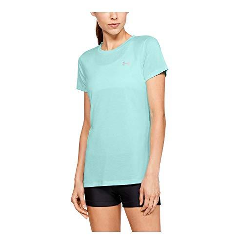 Under Armour Women's Tech Twist T-Shirt, Green (361)/Metallic Silver, ()