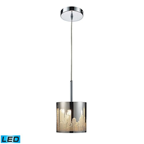 Alumbrada Collection Skyline 1 Light LED Pendant In Polished Stainless