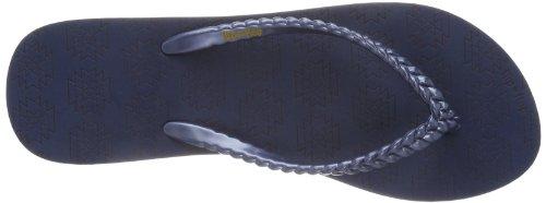 flip*flop slim kilim 30269 - Chanclas de caucho para mujer, color azul, talla 36 Azul (Blau (deep night 032))