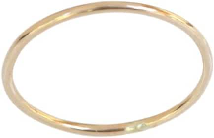 14k Gold Filled 1mm Thin Plain Band Thumb Ring