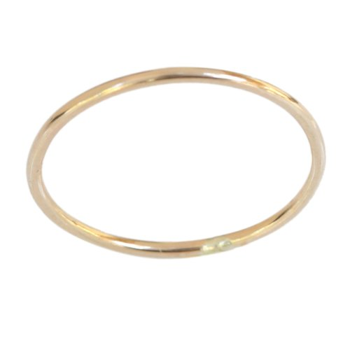 14k Gold Filled 1mm Thin Plain Band Thumb Ring (9) (14k Gold Flower Band Ring)