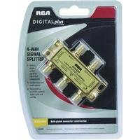 RCA DH44SP Signal Splitter 4-way High Bandwidth, 2.4GHz