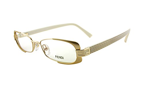 Fendi F943 714 Gold Metal Oval Eyeglasses - Frames Fendi Eye