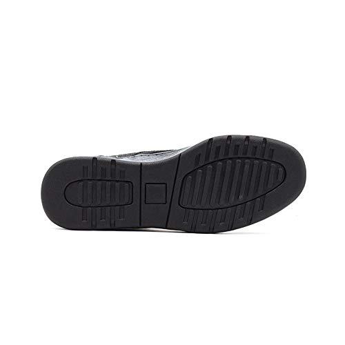 Outdoor Los Asdflina 26 Toe Adultos Shoes Eu 3 Tamaño Ocasionales Botas Hombres 5cm 40 Cowhide 2 Round Top Negro De color 25cm Beige Breathable Layer w7wIZ