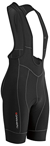 (Louis Garneau Men's Fit Sensor 2 Cycling Bib, Padded and Breathable Compression Bike Shorts, Black, Small)