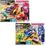 Hasbro Kre-O Transformers Robots in Disguise Twin Pack: Sideswipe Roadway Rundown & Strongarm Capture Cruiser (Transformers Lego)