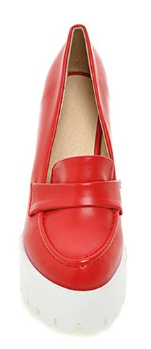 Easemax Womens Stylish Platform High Heels Slip On Pumps Red PjaoWyv