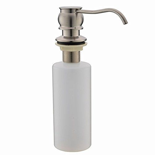Vapsint brushed nickel sink built in soap dispenser for Stainless steel countertop with built in sink