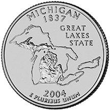 2004 P Michigan State Quarter Choice Uncirculated