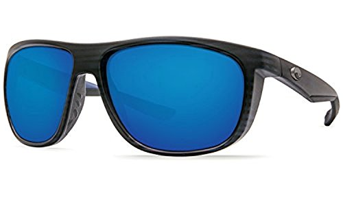Costa Kiwa Sunglasses & Cleaning Kit Bundle Matte Black Teak / Blue Mirror 580g