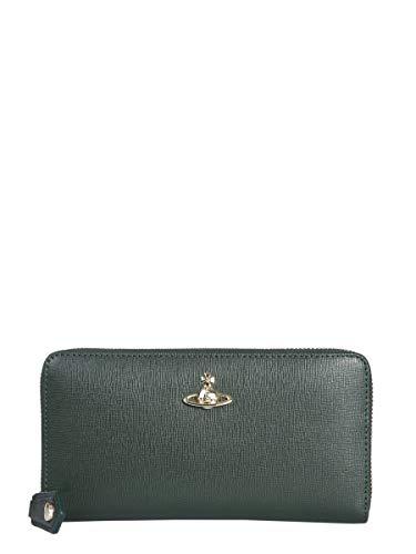 Vivienne Westwood Women's 5105002340565M401 Green Leather Wallet