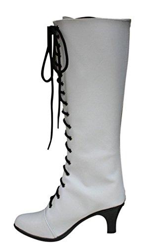 Bromeo Black Butler Kuroshitsuji Angela Blanc Cosplay Chaussure Bottes Boots