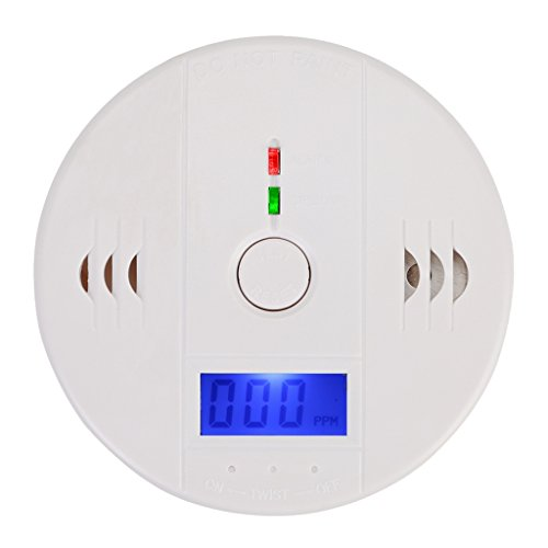 iMusi CO Melder Sicherheitsüberwachung Kohlenmonoxid Vergiftung Sensor Monitor Alarm Melder Rauchmelder Kohlenmonoxid Melder Gasmelder Feuermelder CO Alarm Detektor Carbon Monoxide Sensor mit CO-Konzentration LED Display ( 1 Stück )