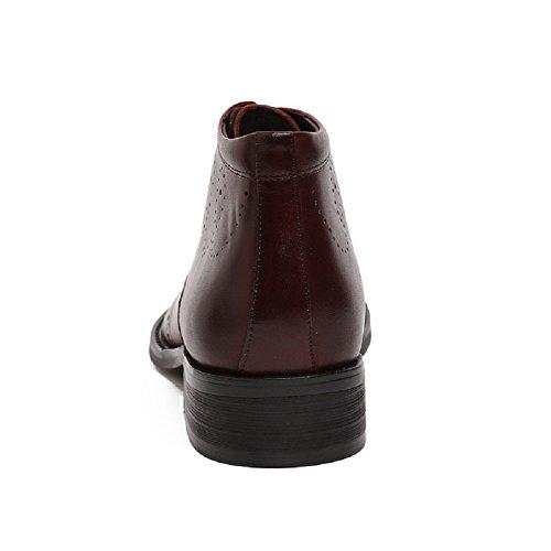 Stivaletti Alti In Pelle Brogue Uomo Santimon Lace-up Causale Bootie-rc-b018-702 Caffè