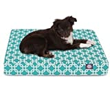Majestic Pet Products Peoducts Links Orthopedic Memory Foam Rectangle Dog Bed Teal Small