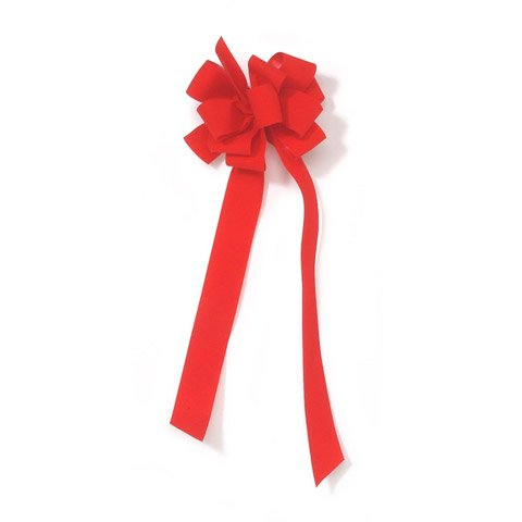 Better Crafts NUM.9 LARGE RED VELVET BOW (48 pack) (0299810) by Better crafts