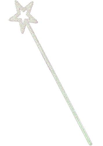White Glitter Plastic Star Wand