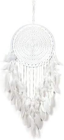 Crystallly Douyin 40 cm witte vanger droom veer handgemaakte haak ornamenten verse eenvoudige stijl fee stijl thuis droom catcher kleur wit één maat één maat