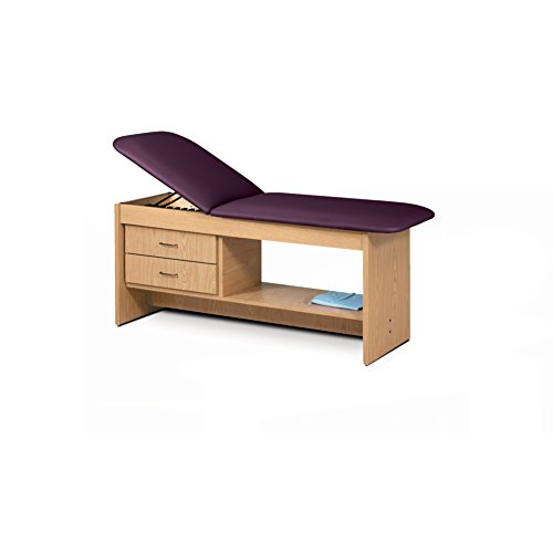 - 30 Treatment Table NAT Wood Laminate Drwrs Silver Pull-PurpleGray