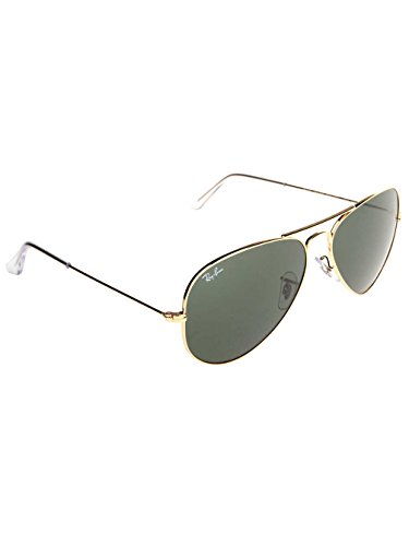 Ray-Ban Men's Original Aviator Sunglasses         , Gold/Green, One - Ban Original Ray Glasses