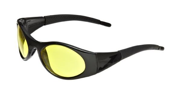 SAS Stinger Black Frame Yellow Lens Safety Work Glasses