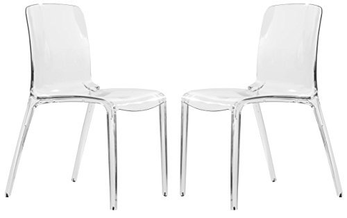 Exceptional Amazon.com   LeisureMod Adler Mid Century Modern Dining Side Chair, Set Of  2 (Clear)   Chairs