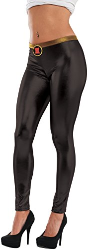 Costumes Black Teen Widow (Rubie's Costume Co Women's Marvel Universe Black Widow Leggings, Multi, One)