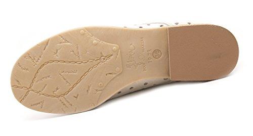 Felmini - Zapatos de cordones de Piel para mujer Panna