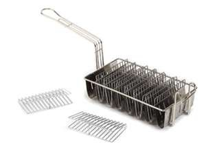 Royal Industries Taco Shell Fry Basket with 8 Compartments, Plated Wire, Commercial Grade