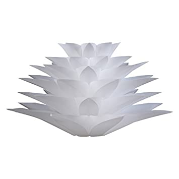 Excelvan diy lotus lampshade iq pp ceiling lamp shade amazon excelvan diy lotus lampshade iq pp ceiling lamp shade pendant light shade christmas living room aloadofball Choice Image