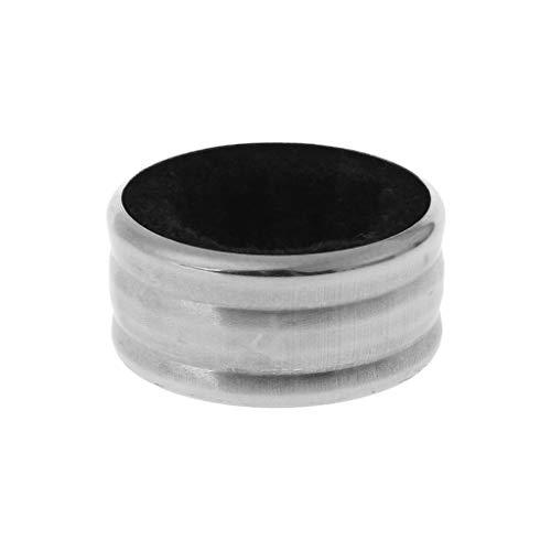 Milue Practical Stainless Steel Red Wine Bottle Drip Drop Proof Stop Ring Bar Tools (Black)