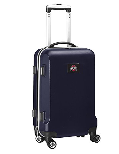Denco NCAA Ohio State Buckeyes Carry-On Hardcase Luggage Spinner, Navy from Denco